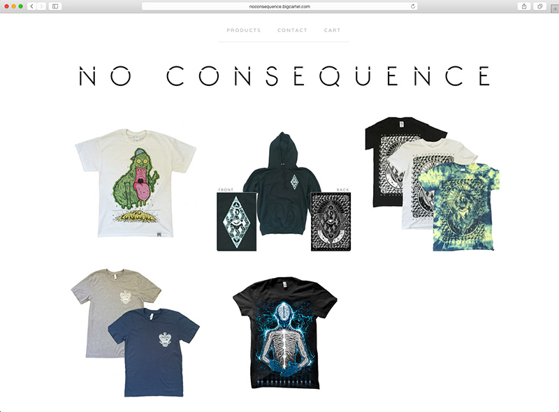 No Consequence merch